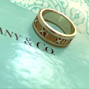 Tiffany & Co Atlas Ring 925 Silver